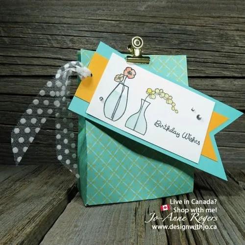 Stampin Up Varied Vases Watercolored Gift Bag Tags