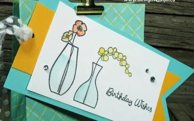 Varied Vases Watercoloured Gift Bag Tags