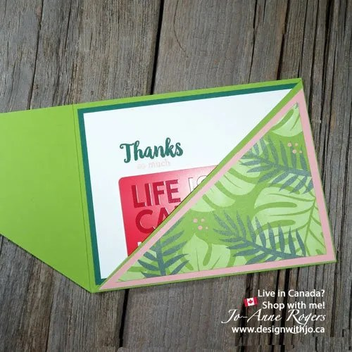 Designer Paper Tropical Escape Gift Card Holder Idea