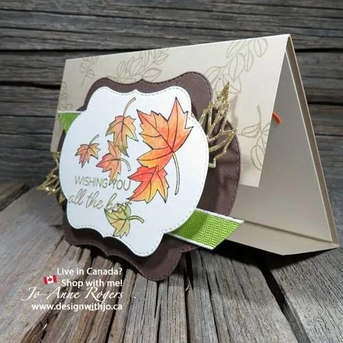 My favourite colour your season easy handmade gatefold card for fall