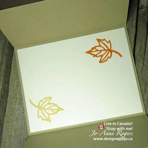easy handmade gatefold card for fall