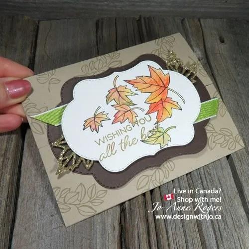 time to make an easy handmade gatefold card for fall