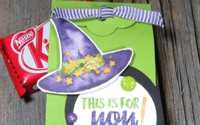 Handmade Candy Corn Countdown Easy Halloween Treat Box   VIDEO