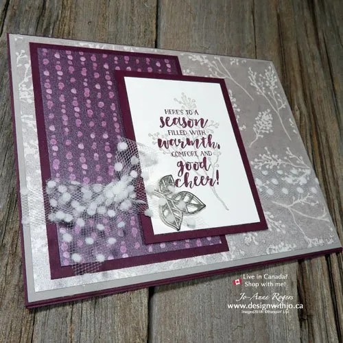 Rubber Stamping Christmas Cards