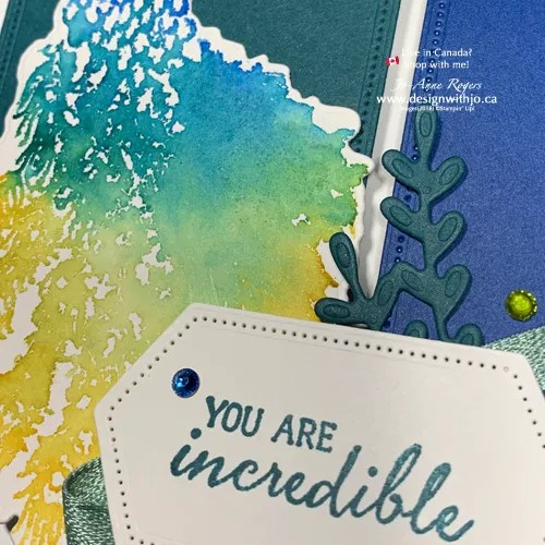 Gorgeous Colour with Stampin Write Markers Watercolour Spritz Technique