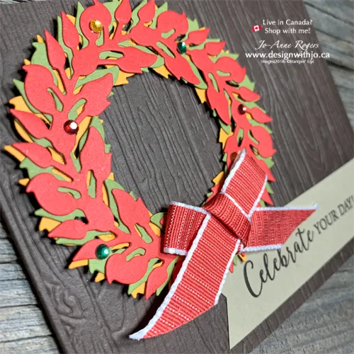 Gorgeous Colours in these 15 Wreath Cards to Make for the Holidays!