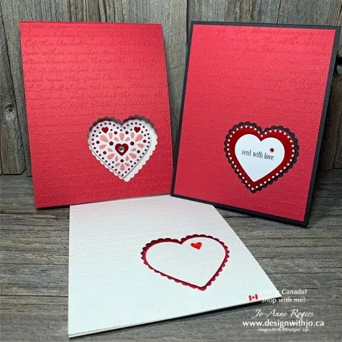 Make a Peek Through Heart Card for Valentines with the Heart Punch Pack from Stampin' Up!