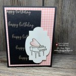 Quick TIPS for How to Remove Embossing Powder Spots on Handmade Cards on this Music from the Heart birthday card