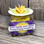 Make a Handmade 3D Tulip Flower Treat Box with Stampin Up DSP and Tulip Builder Punch
