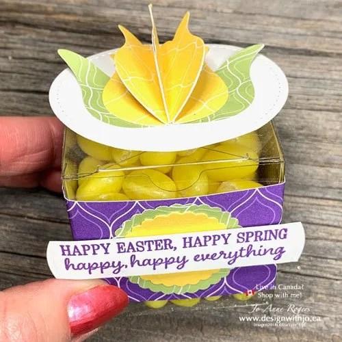 Make an Easter Handmade 3D Tulip Flower Treat Box