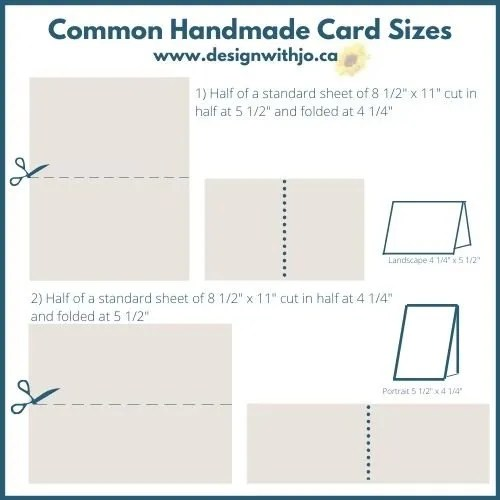 What are common handmade card sizes