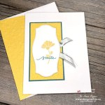 Simple Rubber Stamped Flower Card