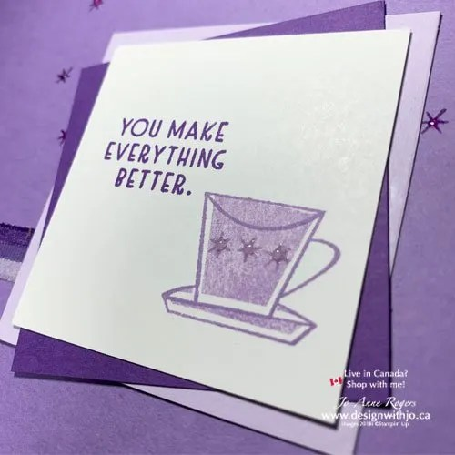 Super Simple Rubber Stamped Handmade Card with the Nothing's Better Than Stamps