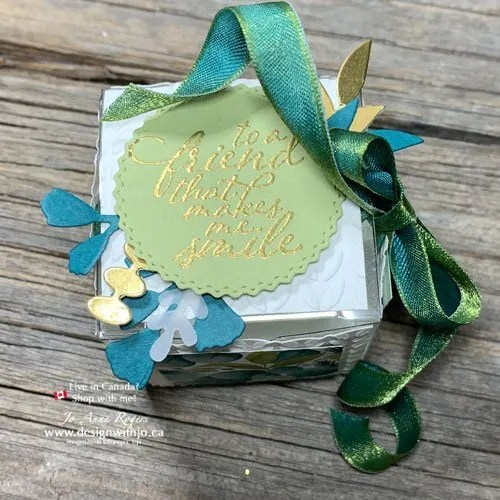 How to Decorate a Gift Box with Cutouts and Ribbon