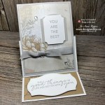 I LOVE This Fancy Fold Rubber Stamped Handmade Card