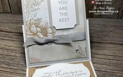 Fancy Fold Rubber Stamped Handmade Card