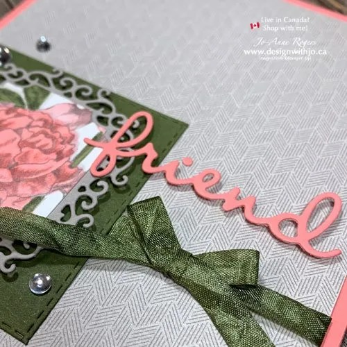 How to Make a No Stamp Handmade Card with Well Written Dies