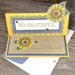 See My Fave Colours in this Sunflower Card Made with Dies