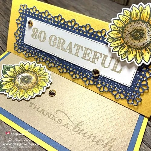 Get My TIPS for A Different Fold Sunflower Card Made with Dies