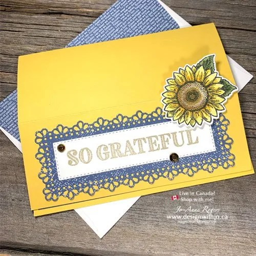 Sunflower Card Made with Dies from Stampin Up