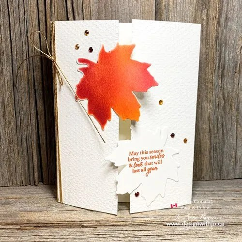 Make a Stunning and Easy Sponged Handmade Card with Gather Together