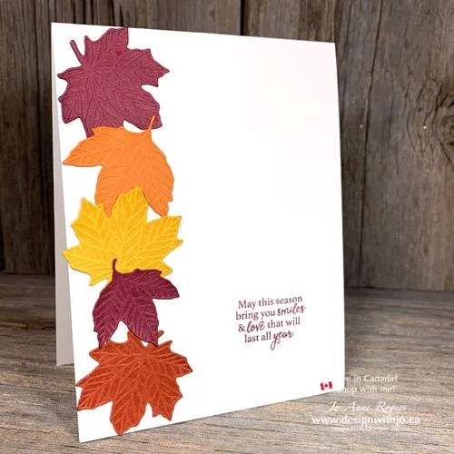 AWESOME Quick and Easy Fall Cards with Gathered Leaves Dies from Stampin Up!