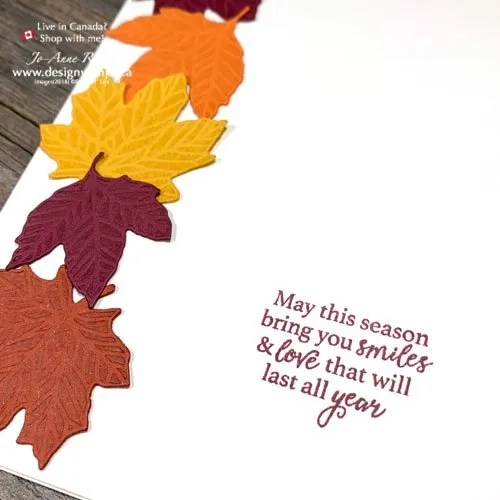 I LOVE How Quick and Easy Fall Cards are with the Gathered Leaves Dies from Stampin Up!