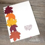 Make Quick and Easy Fall Cards with the Gathered Leaves Dies from Stampin Up!