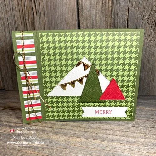 Holiday Cards are Easy to Make with Die Cut Shapes