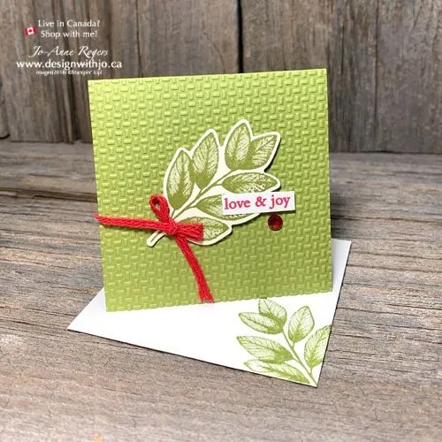 YES! You Can Make a Tiny Handmade Christmas Card with Non-Christmas Stamps