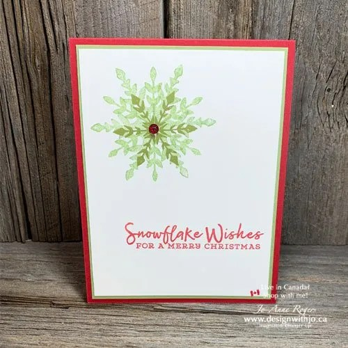 You Are Going to LOVE This Quick and Easy Triple Stamped Christmas Card