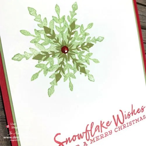 Layer Up Snowflake Wishes Stamps for a Quick and Easy Triple Stamped Christmas Card