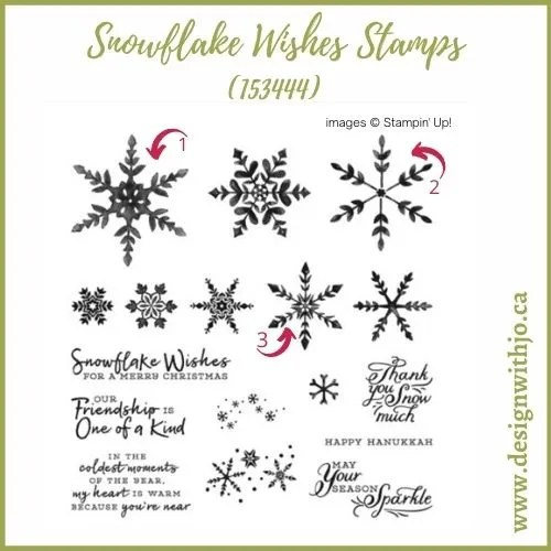 How Quick and Easy Triple Stamped Christmas Card Is with Snowflake Wishes Stamps from Stampin Up!