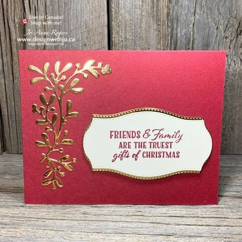 I LOVE to Use Foil Paper for DIY Christmas Cards