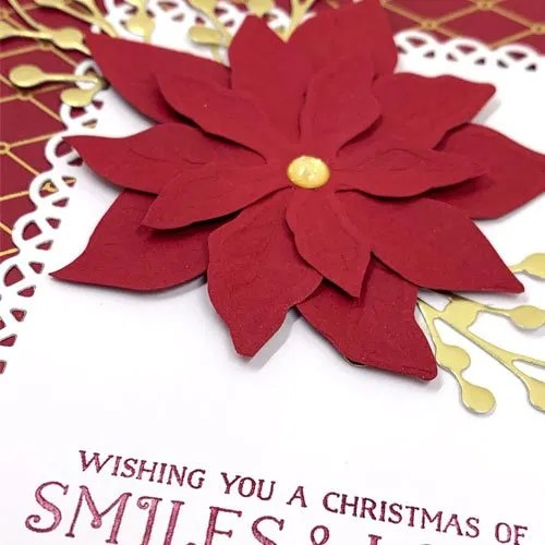Use Poinsettias in Christmas Cards