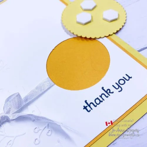 Sweet and Simple Thank You Card with Lots of Heart Stamps from Stampin' Up!