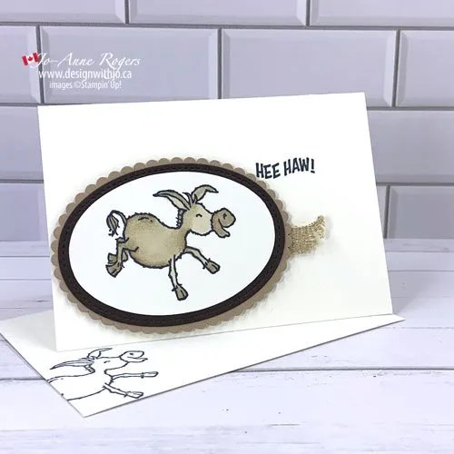 VIDEO Easy DIY Birthday Card for Guys with the Darling Donkey FREE stamp set from Stampin' Up!