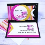 Rubber Stamped Card for Coffee Drinkers