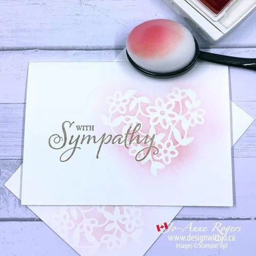 Simple Handmade Sympathy Card