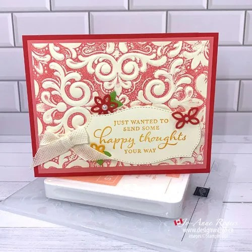 Quick Tip Video : How to Add Colour to Embossing Folders