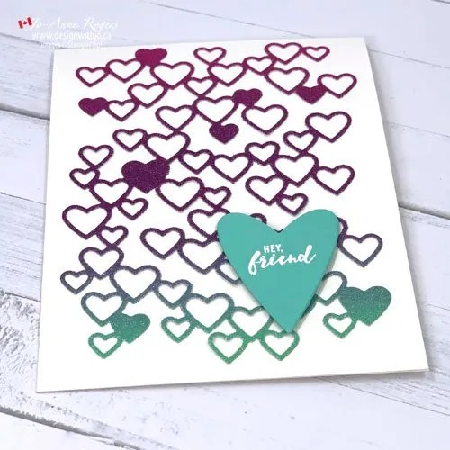 Simple Friend Card Made with Hearts