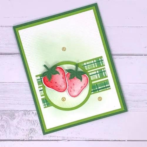 Versatile Sweet Strawberry Card Making