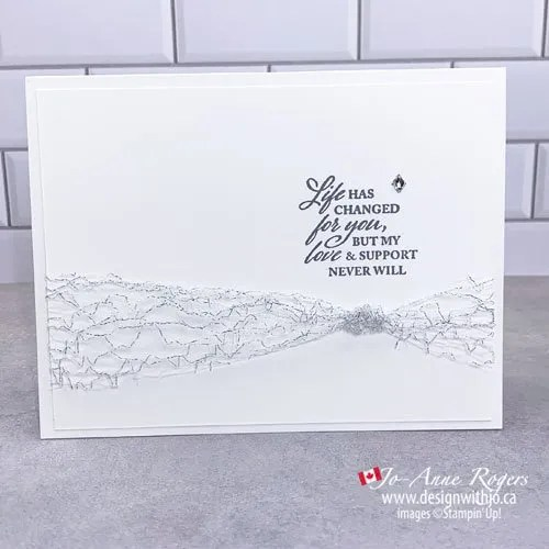 Hand Make a Sympathy Card with only a Few Crafting Supplies