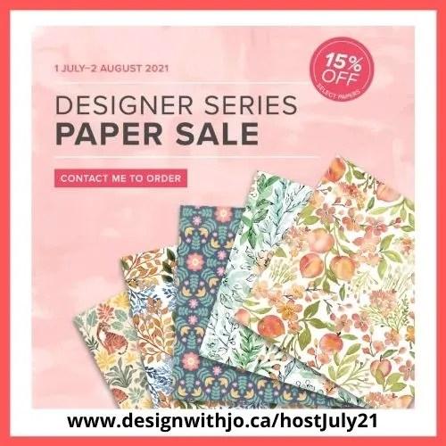 2021 Designer Series Paper Sale
