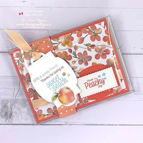 JO-Tips VIDEO for How to Make Belly Band with You're a Peach DSP and Sweet as a Peach stamps from Stampin' Up!