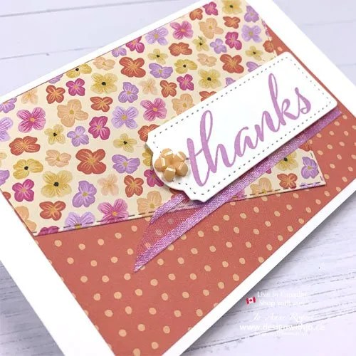 CASE the Cattie Video for Simple Card Making with Patterned Paper