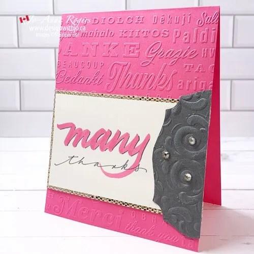 Brush Lettered Thanks Card