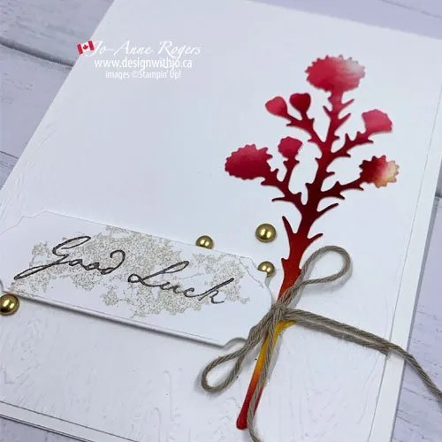 Super Quick and Easy Ribbon Tip for Handmade Cards