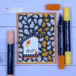 Quick Fall Card to Make with Patterned Paper and Alcohol Markers