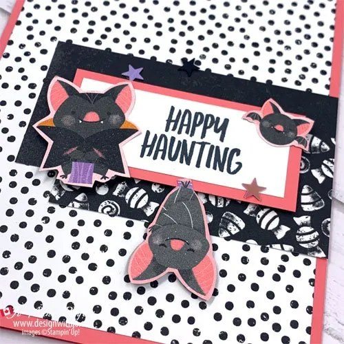 Cute and Simple Halloween Card with Very Little Stamping